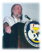 Dennis speaking before IACLEA Annual Conference in 2000